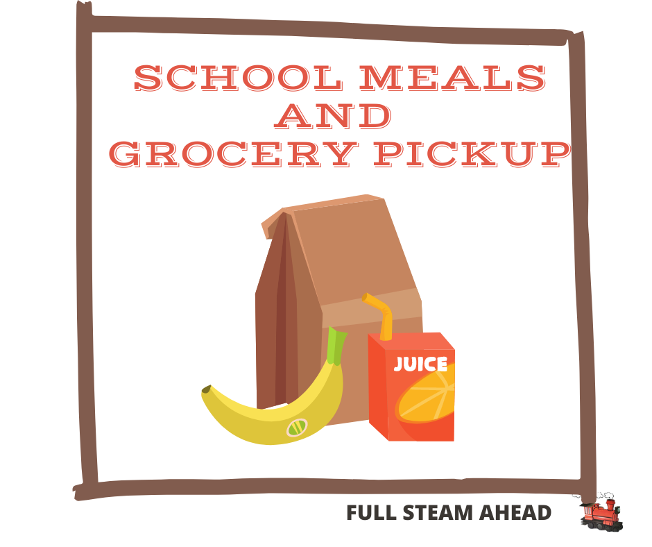 This is the image for the news article titled School Meals and Grocery Pickup